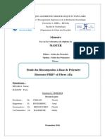 Etude des Biocomposites à Base de Polymère Biosourcé PHBV et Fibres Alfa.