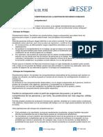 Nota técnica 1.2 -  El enfoque por competencias en la Gestion de RRHH