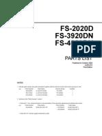 Fs 2020d Fs 3920dn Fs 4020dn Parts