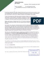 Denuncia ante a Fiscalía de Ourense -admitida a trámite- por un delito de tráfico de influencias para empregar a un militante do BNG