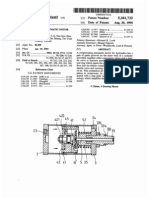 Reciprocating pneumatic motor for hydraulics (US patent 5341723)