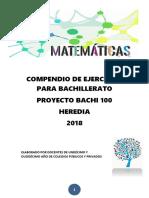 BACHI 100. COMPENDIO DE ITEMS. BACHILLERATO 2018[3418]