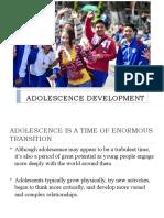 ADOLESCENCE DEVELOPMENT