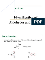 identification of Aldehydes and Ketones (Week 10)