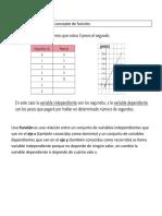 Guía de Matemáticas Concepto función