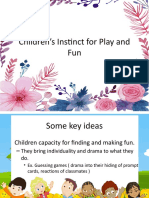 Children's Instinct for Play and Fun