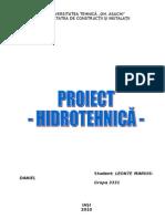 Proiect Hidrotehnica - Alimentare Cu Apa