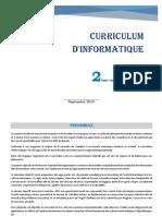 Curriculum d'Informatique 2A