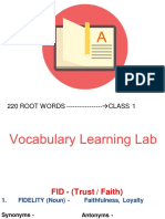 VBL- 220 root word