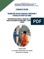 INFORME DEL PLAN DE VIGILANCIA, PREVENCIÓN Y CONTROL DE COVID-19 EN OBRA