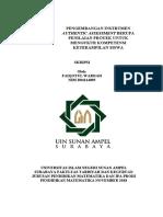 PENGEMBANGAN INSTRUMEN AUTHENTIC ASSESSMENT BERUPA PENILAIAN PROYEK UNTUK MENGUKUR KOMPETENSI KETERAMPILAN SISWA