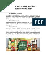 LOS FACTORES DEL MACROENTORNO Y MICROENTORNO ALICORP