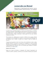 Los carnavales en Bernal