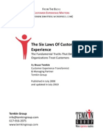 The Six Laws Of Customer EXPERIENCE B.TEMKIN
