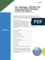 Dialogic CPI Series Datasheet