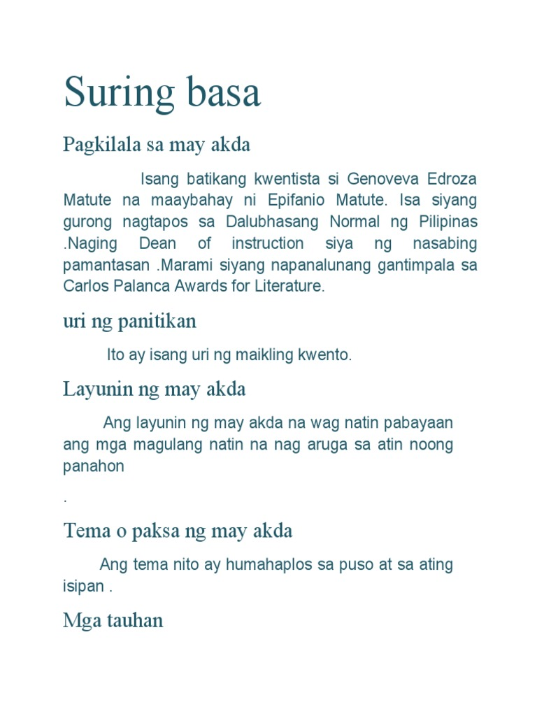 suring basa maikling Epifanio fani mangaran i love the catholics the real mary the mother of christ the cause of destruction ---si mary ay isa.