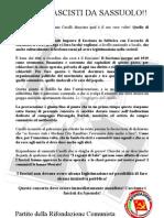 Fuori i Fascisti Da Sassuolo