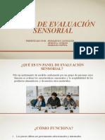PANEL DE EVALUACIÓN SENSORIAL