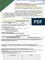 Eval 1  s2   1ère  lgue et comp 2017 2018 Manuel PARCOURS