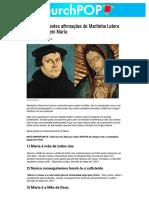 5 surpreendentes afirmações de Martinho Lutero sobre a Virgem Maria _ ChurchPOP Português
