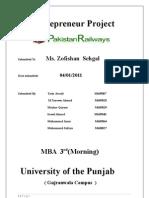 Entrepreneur Project on pakistan railways
