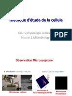Méthode d'étude de la cellule (1)