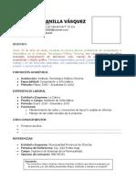 Modelo de Curriculum Vitae (Lleno ejemplo)