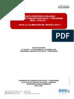 PROPUESTA PEDAGOGÍAS SOLIDARIA PCSP - 20201