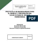 2. PROTOCOLOS DE BIOSEGURIDAD - Ferreproyectos jR S A S zomac