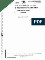 CAPE Communication Studies 2009 P1B (Examiner)