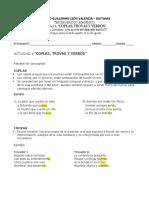 ACTIVIDAD 7, COPLAS, TROVAS Y VERBOS Lengua Castellana