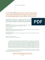 Autopercepción en adultos con SDown