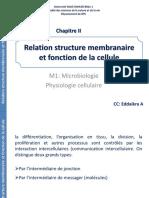 Relation structure membranaire et fonction de la cellule (1)