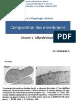Composition des membranes