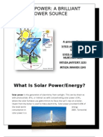 SOLAR POWER assignment