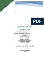 EPIDEMIOLOGIA DEMOGRAFIA