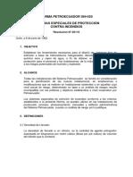 Norma 20 Sistemas especiales de protección contra incendios