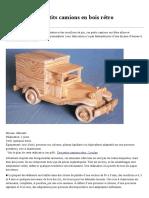 Fabriquer des petits camions en bois rétro