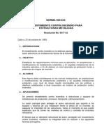 Norma 24 Revestimiento contra incedio para estrucuturas metálicas