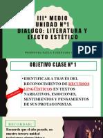 LITERATURA Y EFECTO ESTETICO 3 MEDIO
