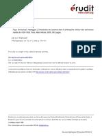 Philosophiques Volume 33 issue 1 2006 [doi 10.7202_012965ar] Vigneault, Luc -- Faye, Emmanuel, Heidegger, L%u2019introduction du nazisme dans la philosophie. Autour des séminaires inédits de 1933-1935, P