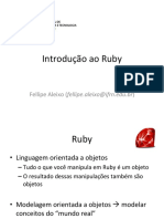 INDRODUÇÃO A PROGRAMAÇÃO RUBY