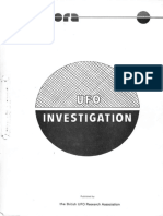 1976 - & !979 UFO Investigation BUFORA Manual