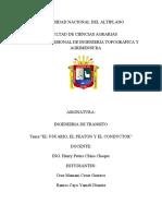 EL USUARIO, EL PEATON Y EL CONDUCTOR