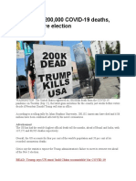 US passes 200,000 cases of deaths(1)