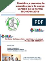 Cambios en ISO 9001 2015