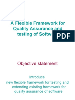 PV2-MohammedKharma-A Flexible Framework for Quality Assurance and Testing of Software