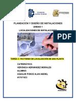 FACTORES DE INSTALACION DE LA PLANTA