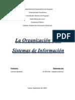 Trabajo sobre Organizacion y Sistemas de Informacion