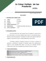 SILABO DE LITERATURA